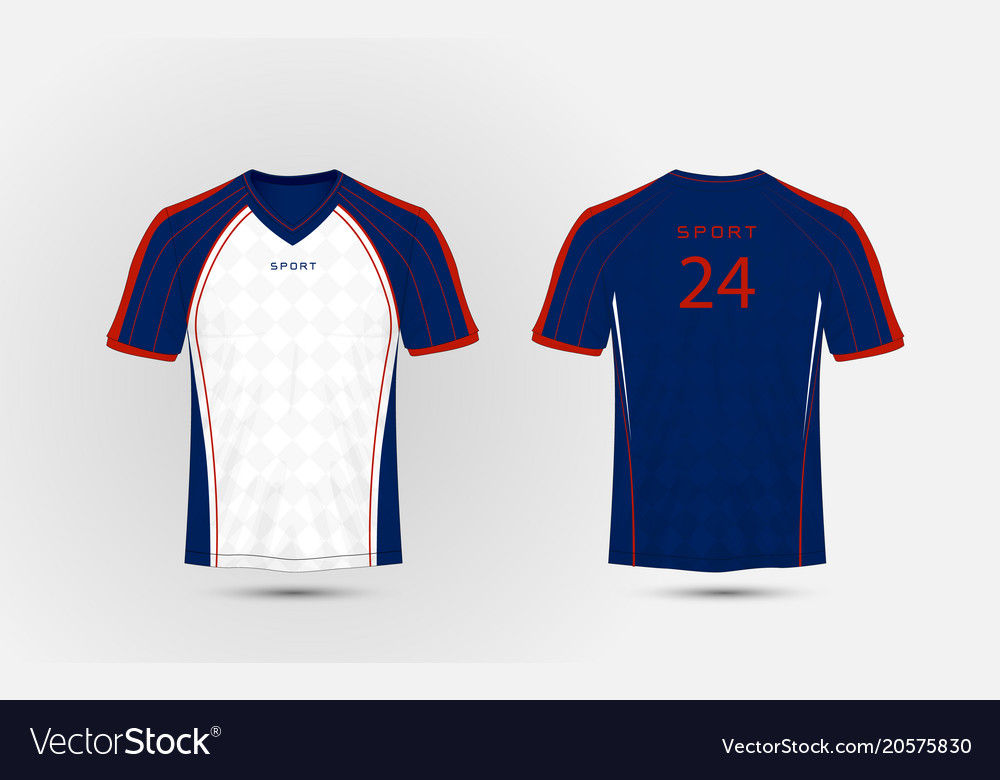 da6416989 Blue white and red lines layout football sport Vector Image
