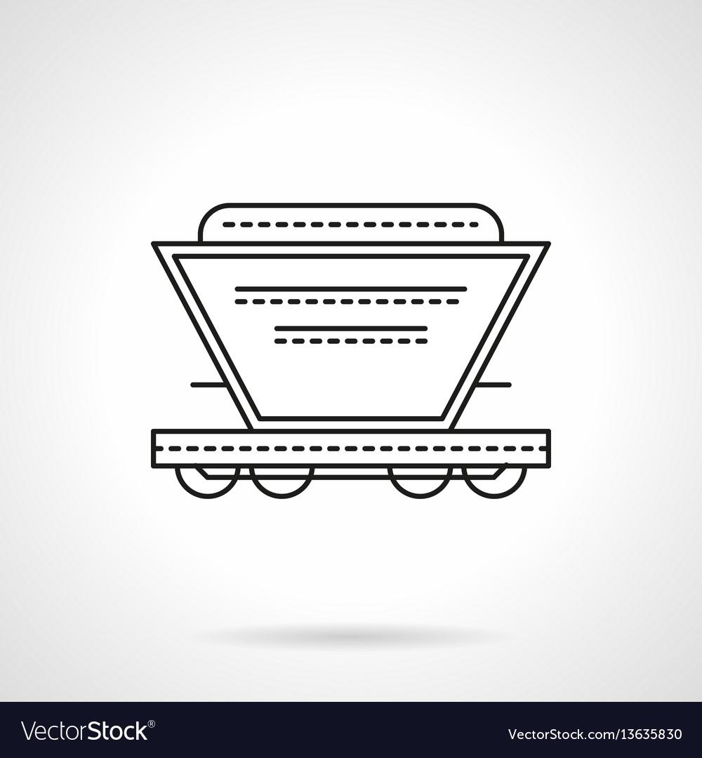 Bulk cargoes rail car flat line icon
