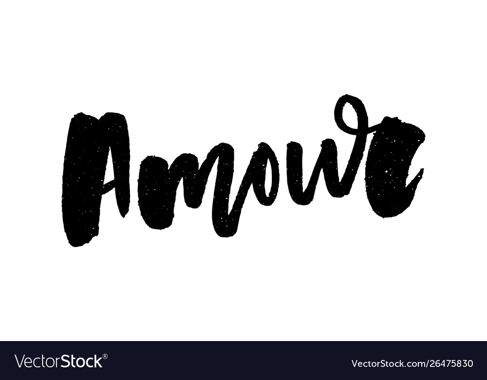 Mon amour postcard my love in french phrase for