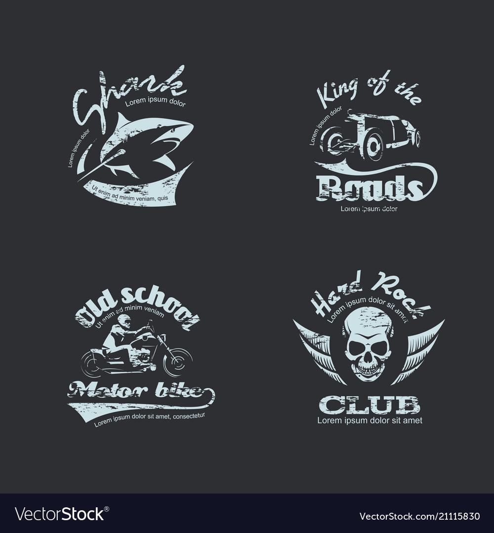 Set retro vintage logotypes