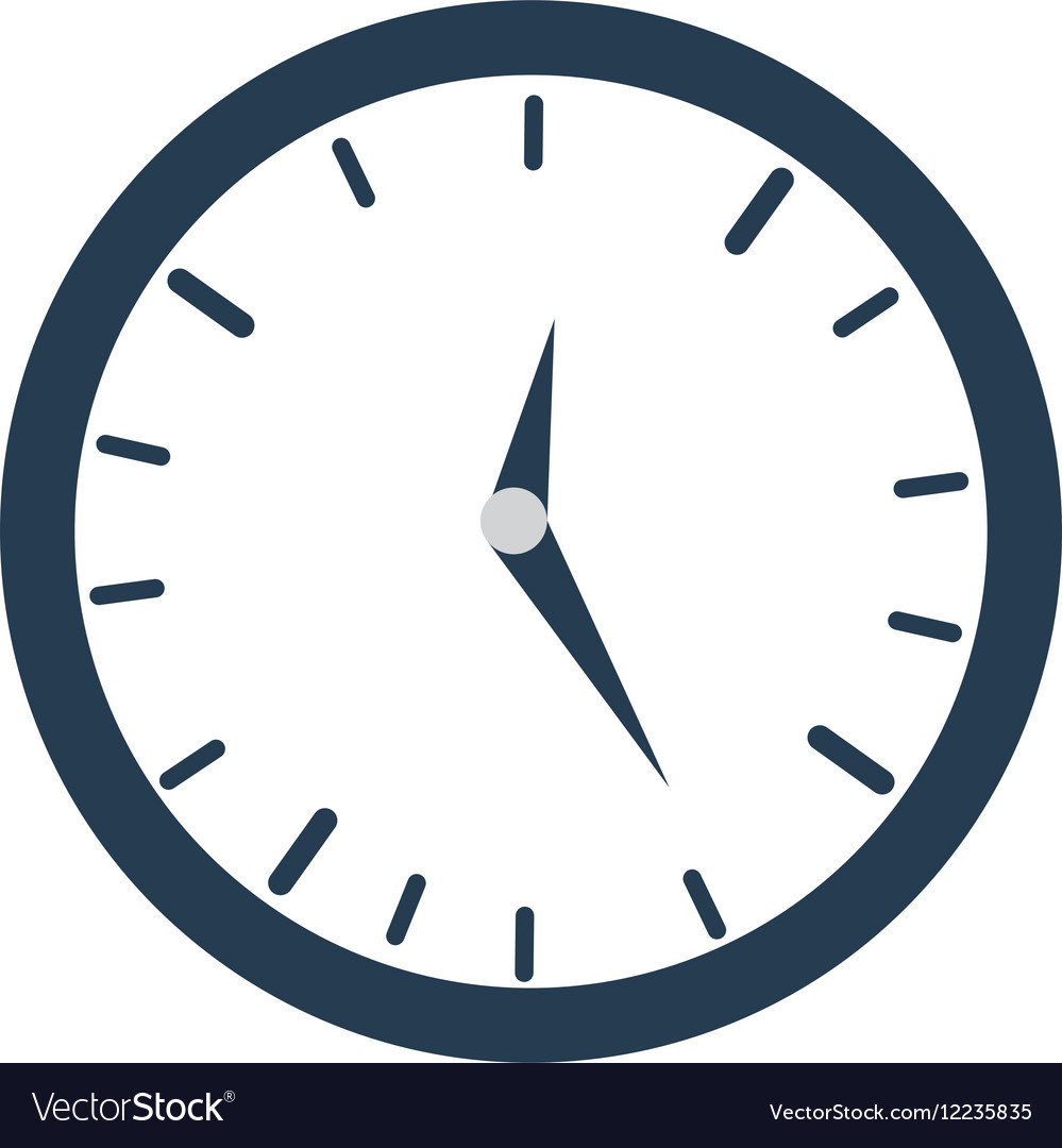 Clock time business money design vector image