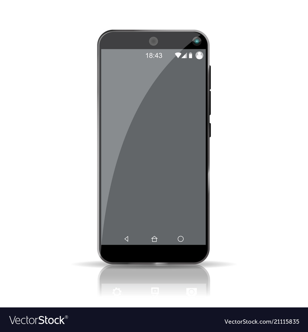 Empty smartphone template highly detailed picture
