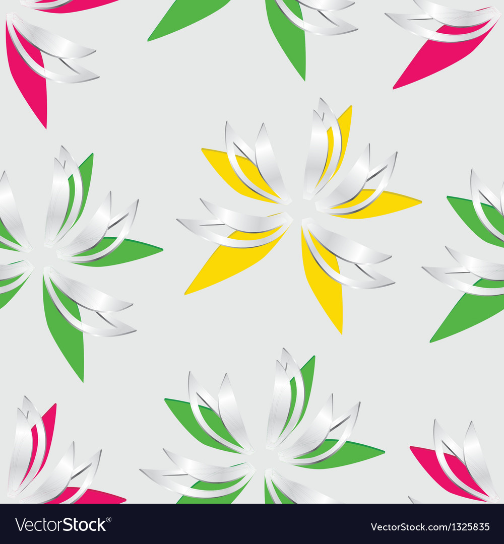 Flower Cut Out Of Paper Seamless Royalty Free Vector Image