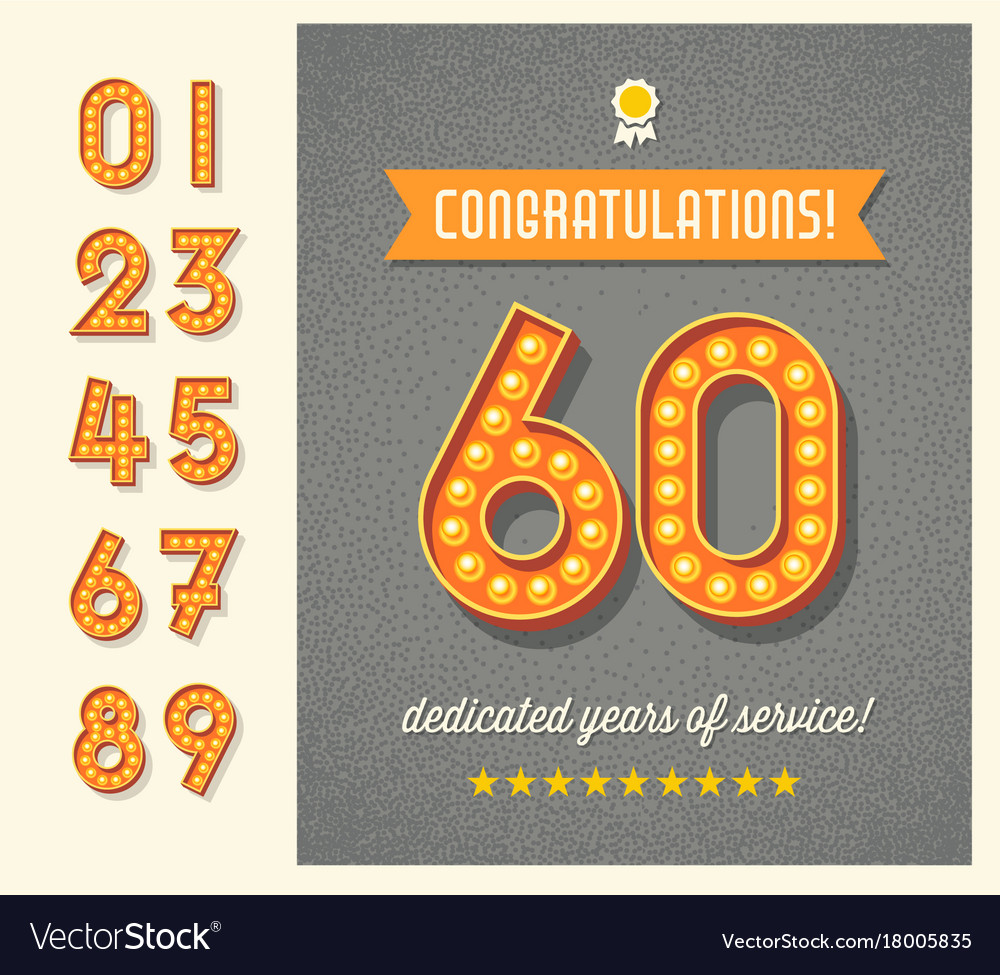 Greeting Card With 3d Light Bulb Number Set Vector Image