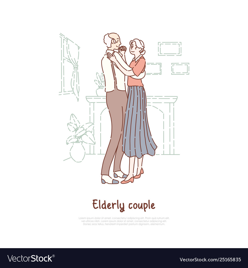 Married elderly couple old husband and wife