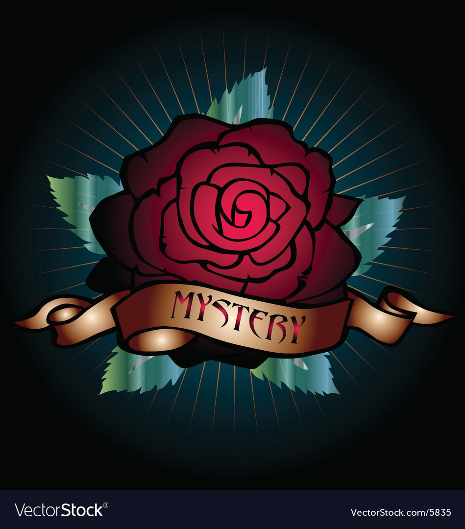 Mystery rose vector image