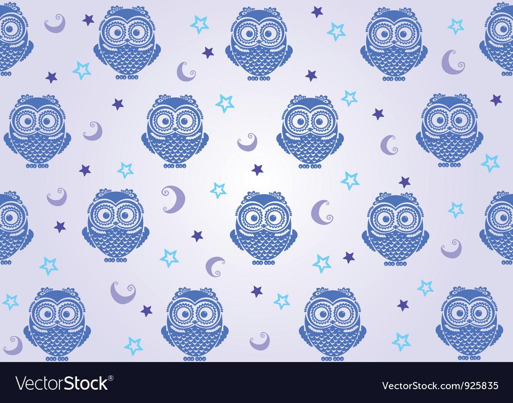 Owl wallpaper vector image