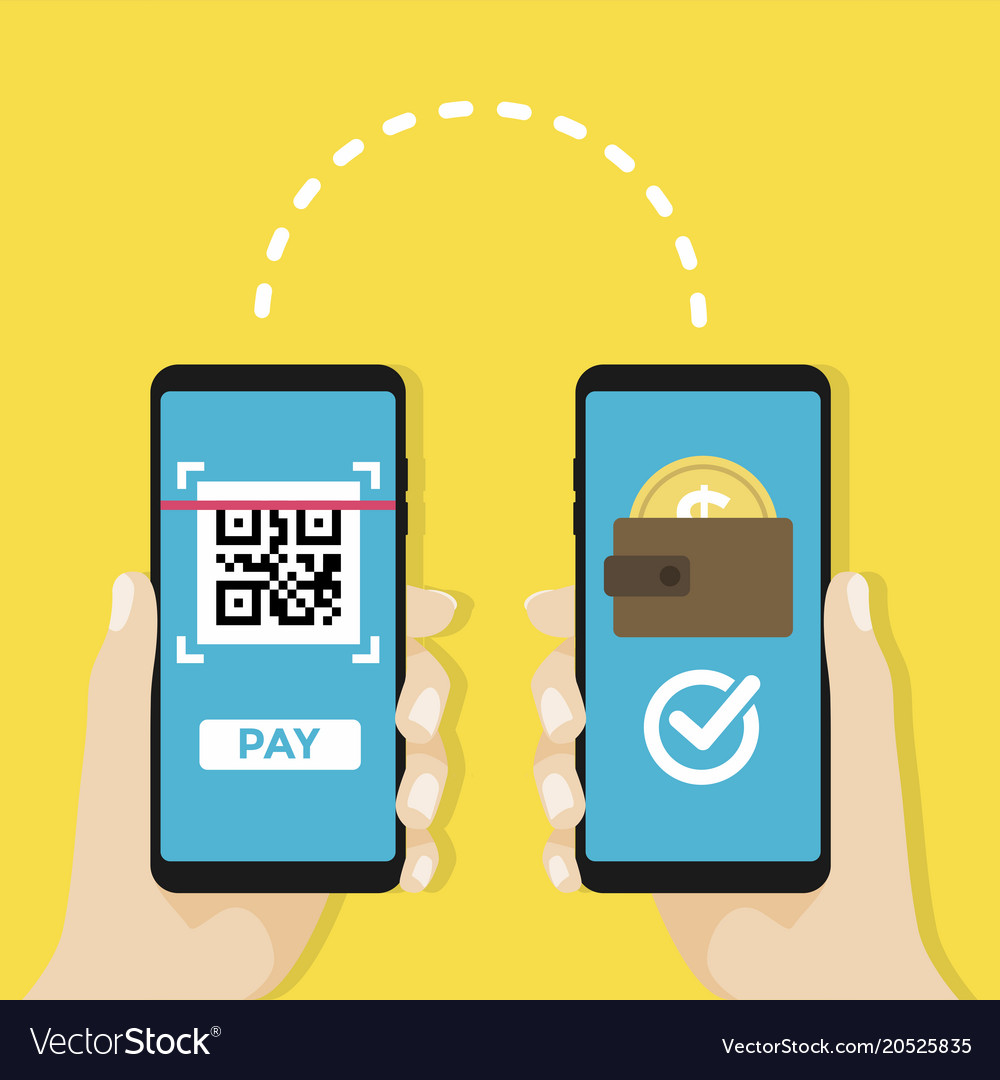 Transfer money by qr code mobile payment