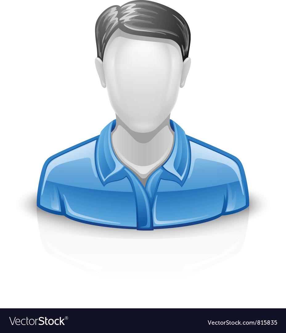 User icon man vector image