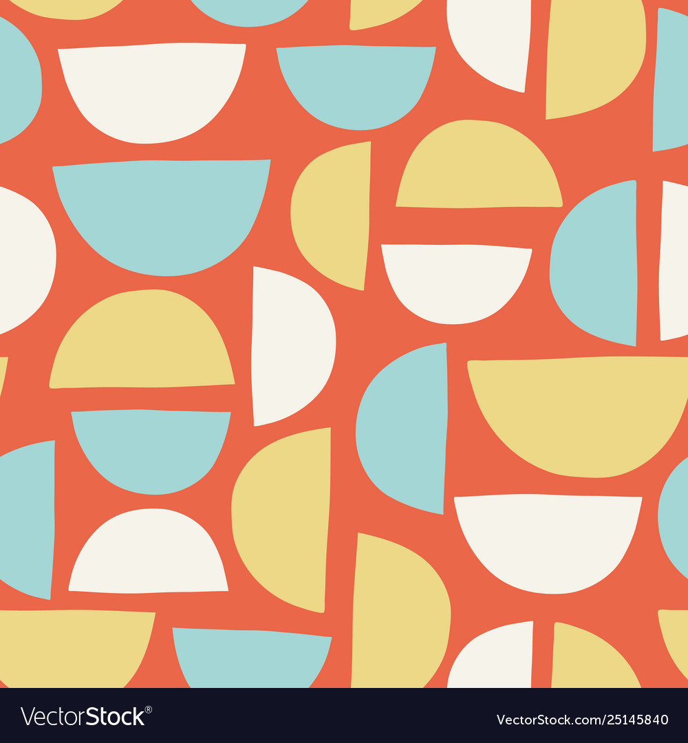 Abstract hand drawn semicircles seamless