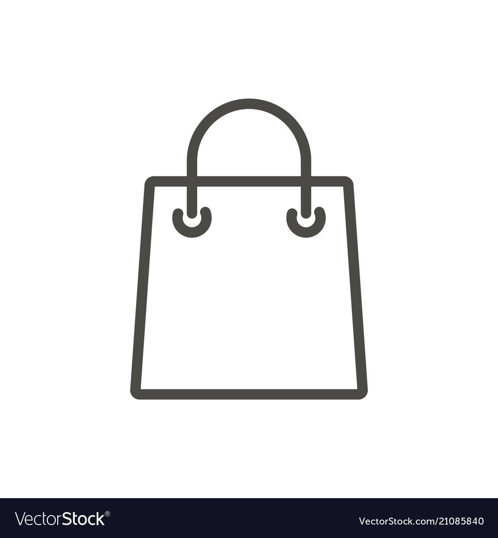Bag icon line shopping gift symbol