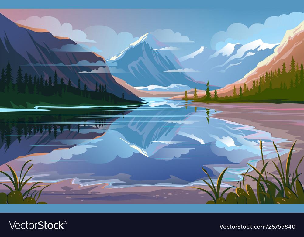 Beautiful nature natural landscape evening