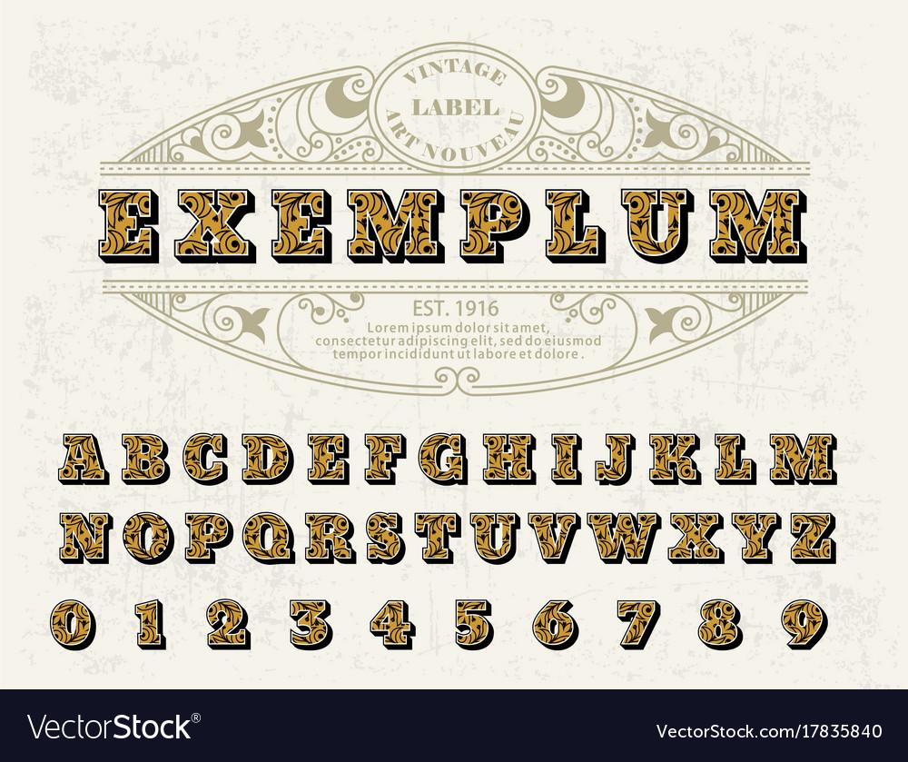 Beautiful set of capital letters vintage