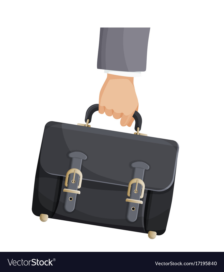 Briefcase in businessman hand