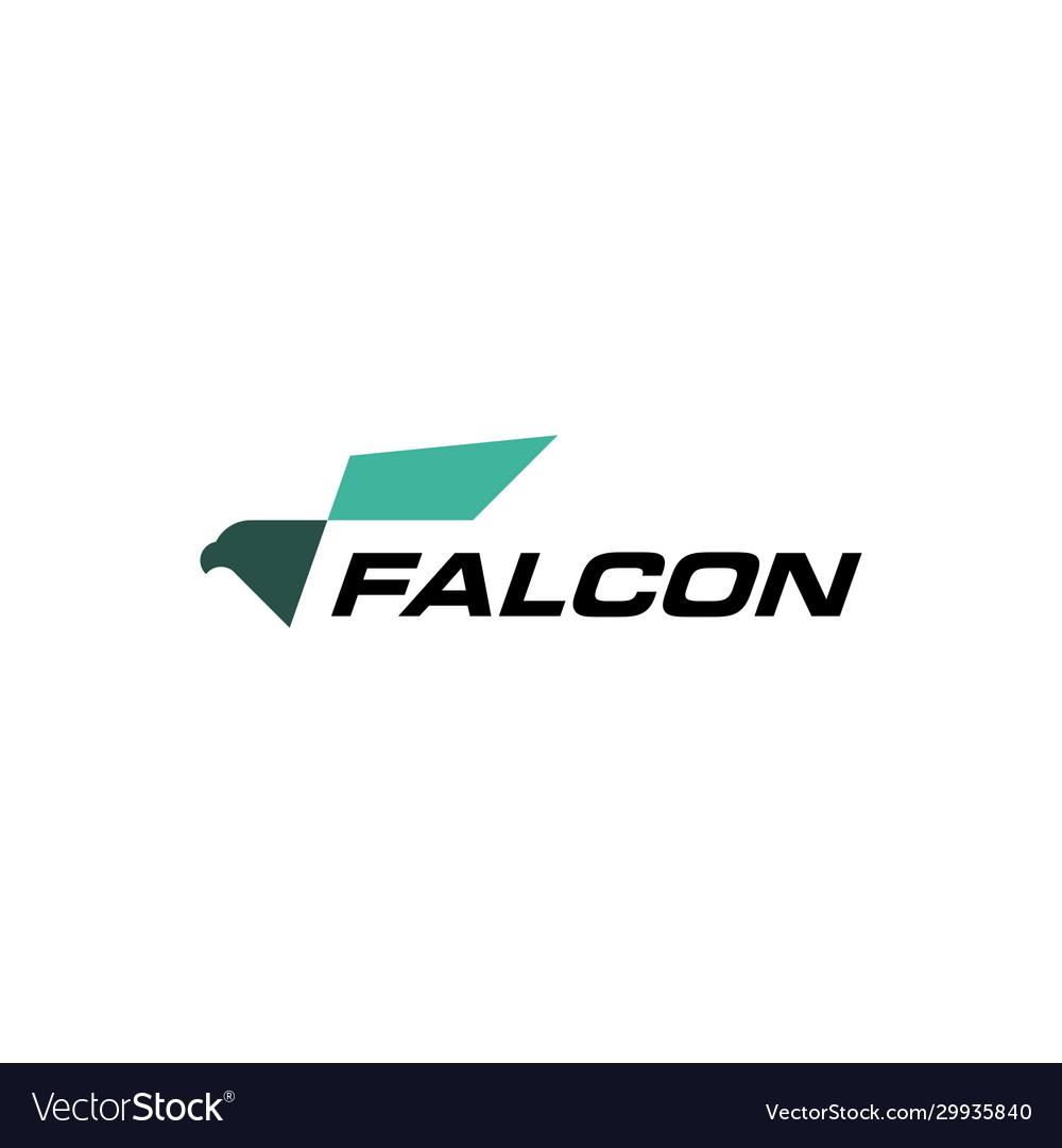 Eagle falcon bird logo icon