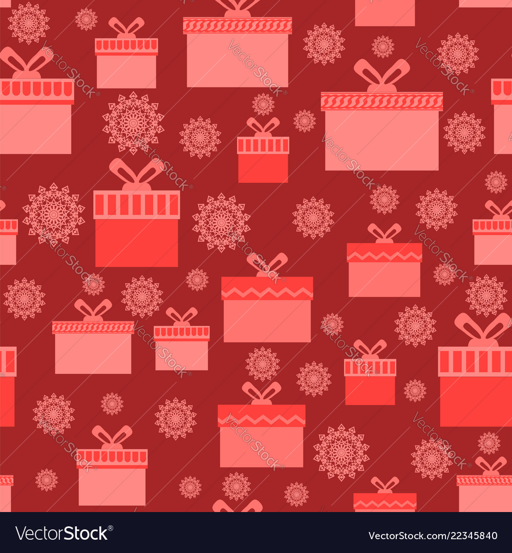 Red wrapping christmas seamless paper with