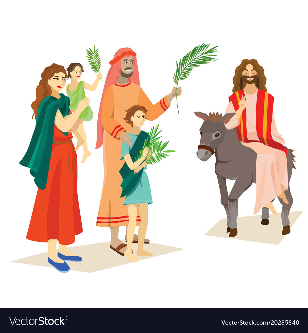 Religion holiday palm sunday before easter Vector Image