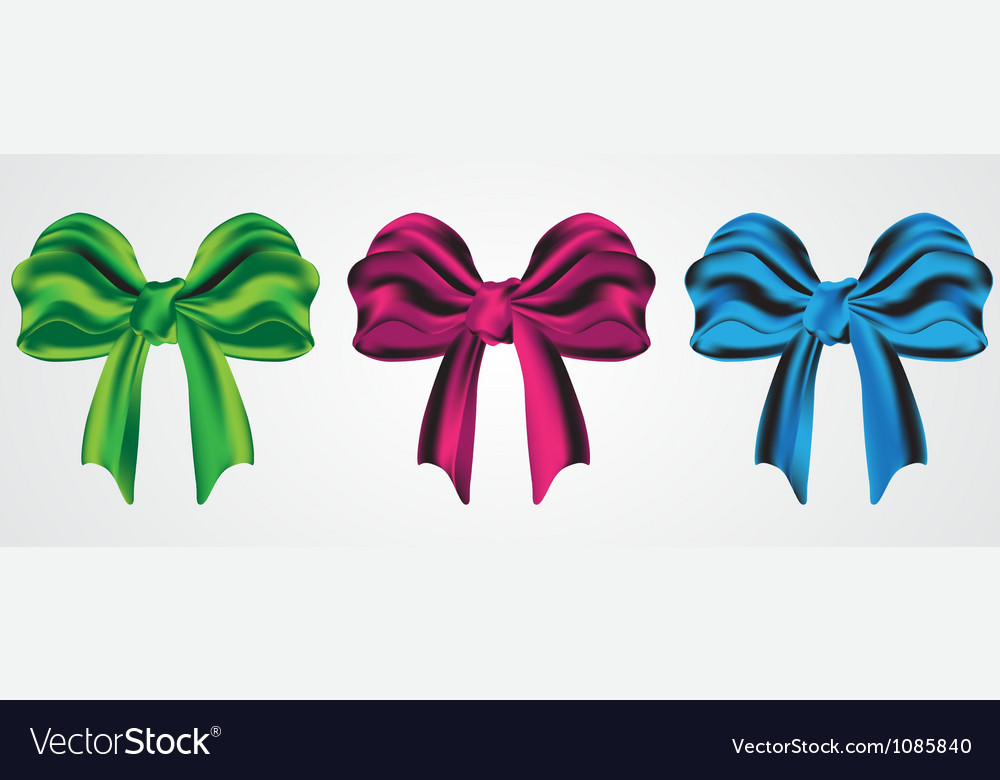 Set of holiday bow