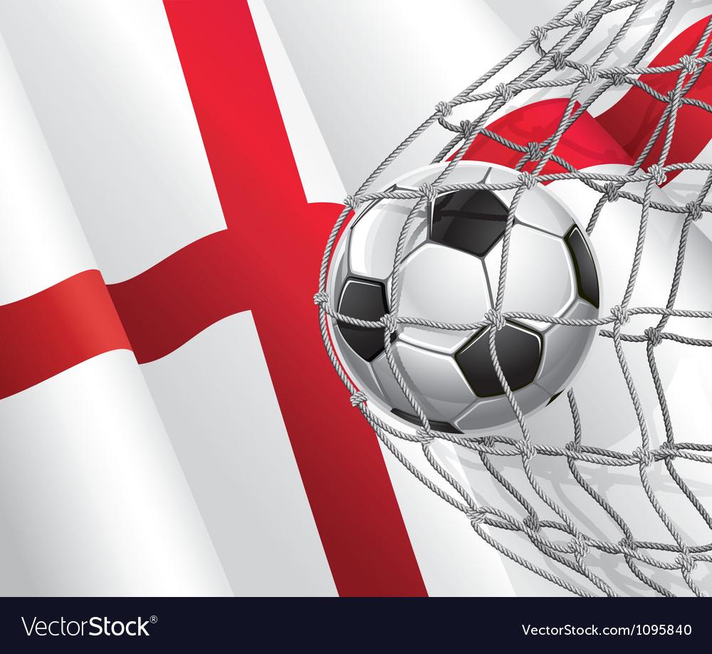 Soccer goal and England flag