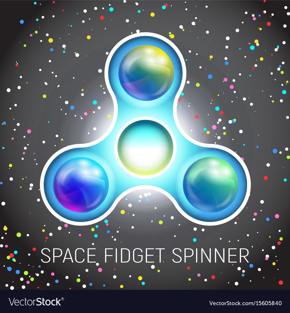 Space fidget spinner toy with three blades