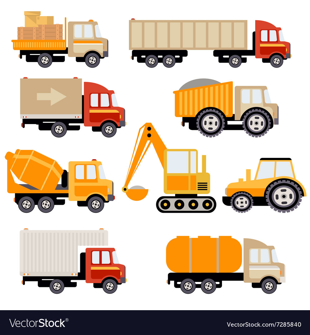 Work Trucks Flat Set