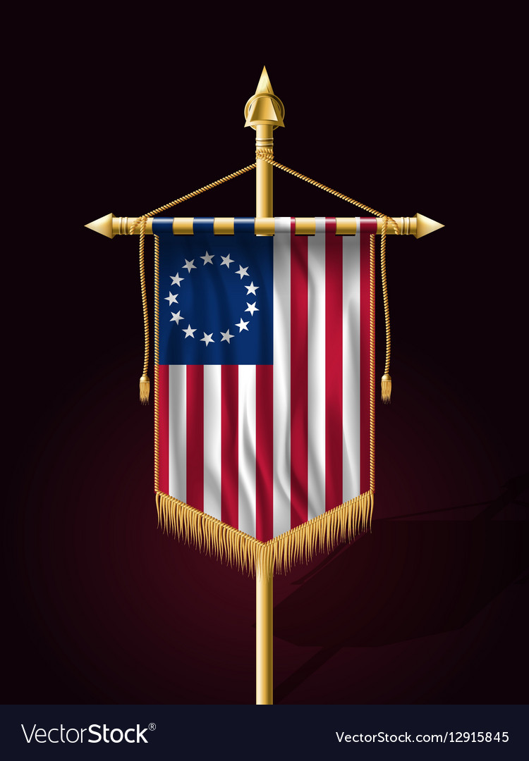 American Betsy Ross Flag Vertical Banner vector image