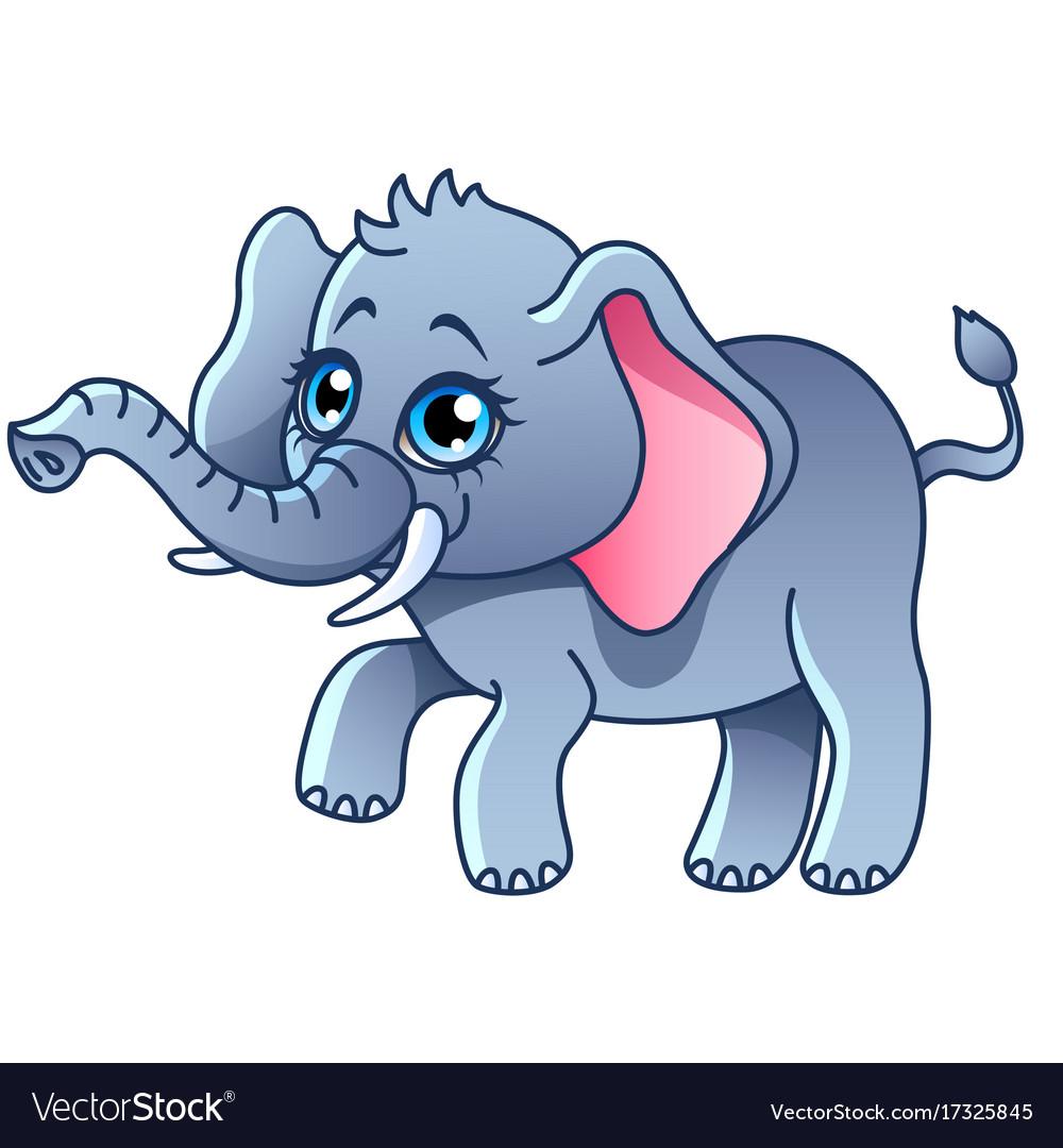 Cartoon elephant isolated