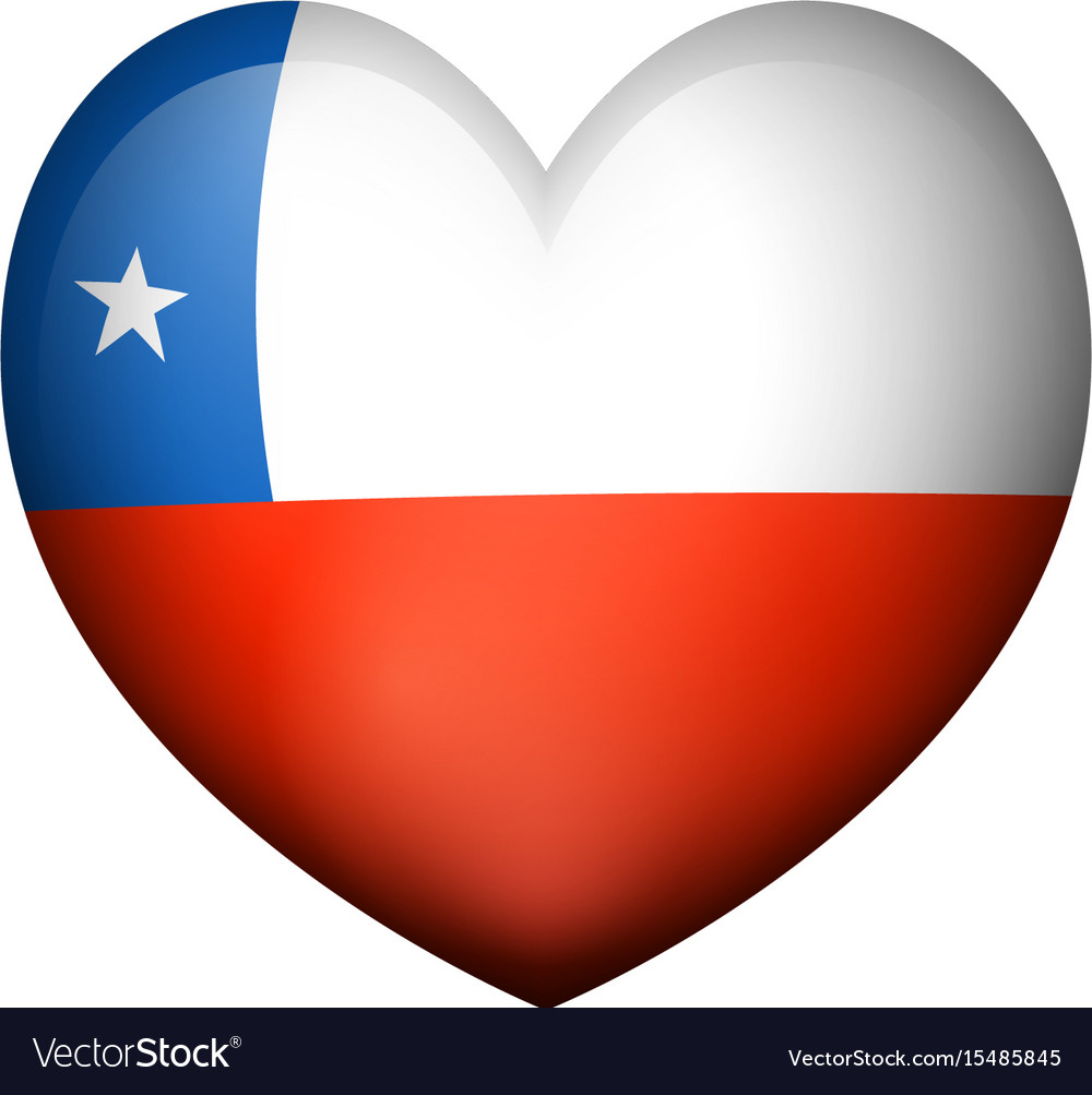 Flag of chile in heart shape