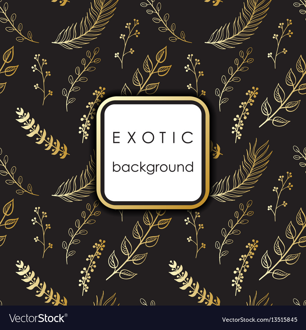 Seamless exotic pattern with palm leaves