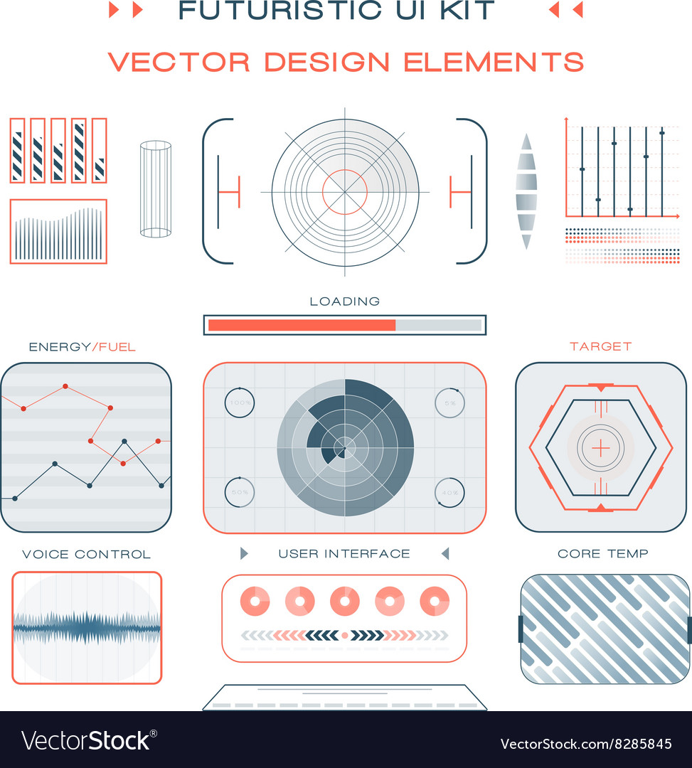 UI flat design web elements template set interface