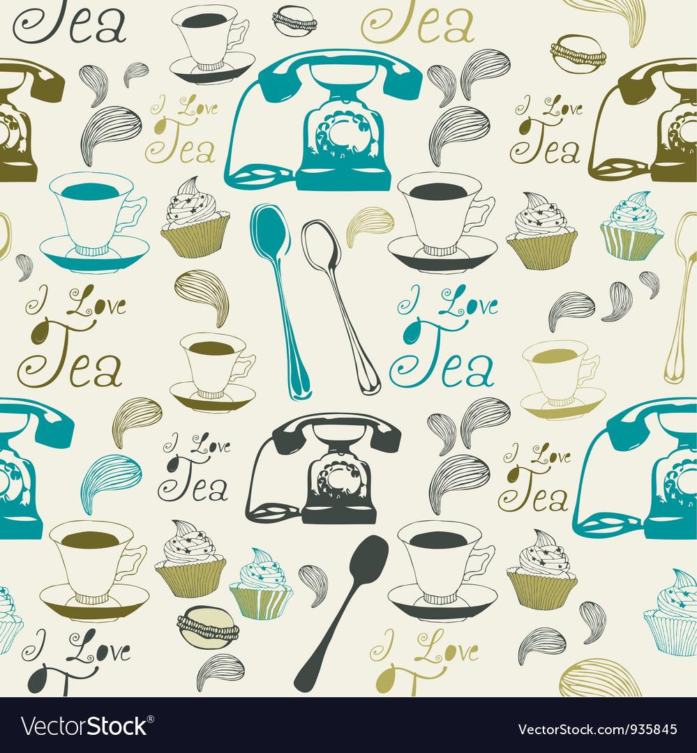 Vintage Afternoon Tea Pattern