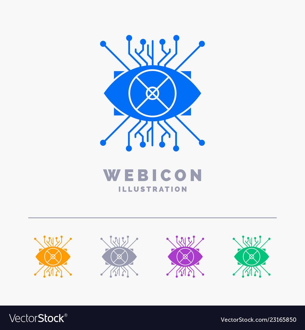 Ar augmentation cyber eye lens 5 color glyph web