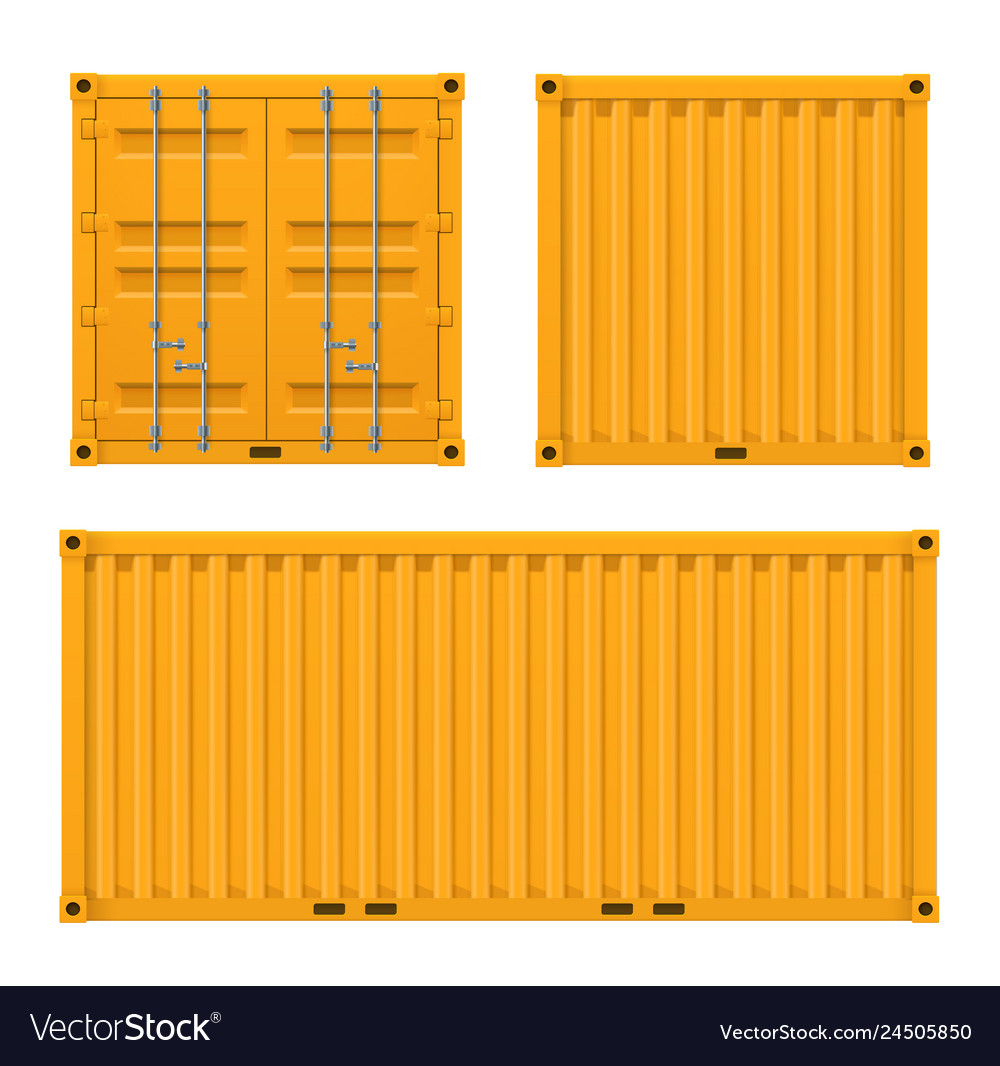 Cargo yellow container for shipping and sea export