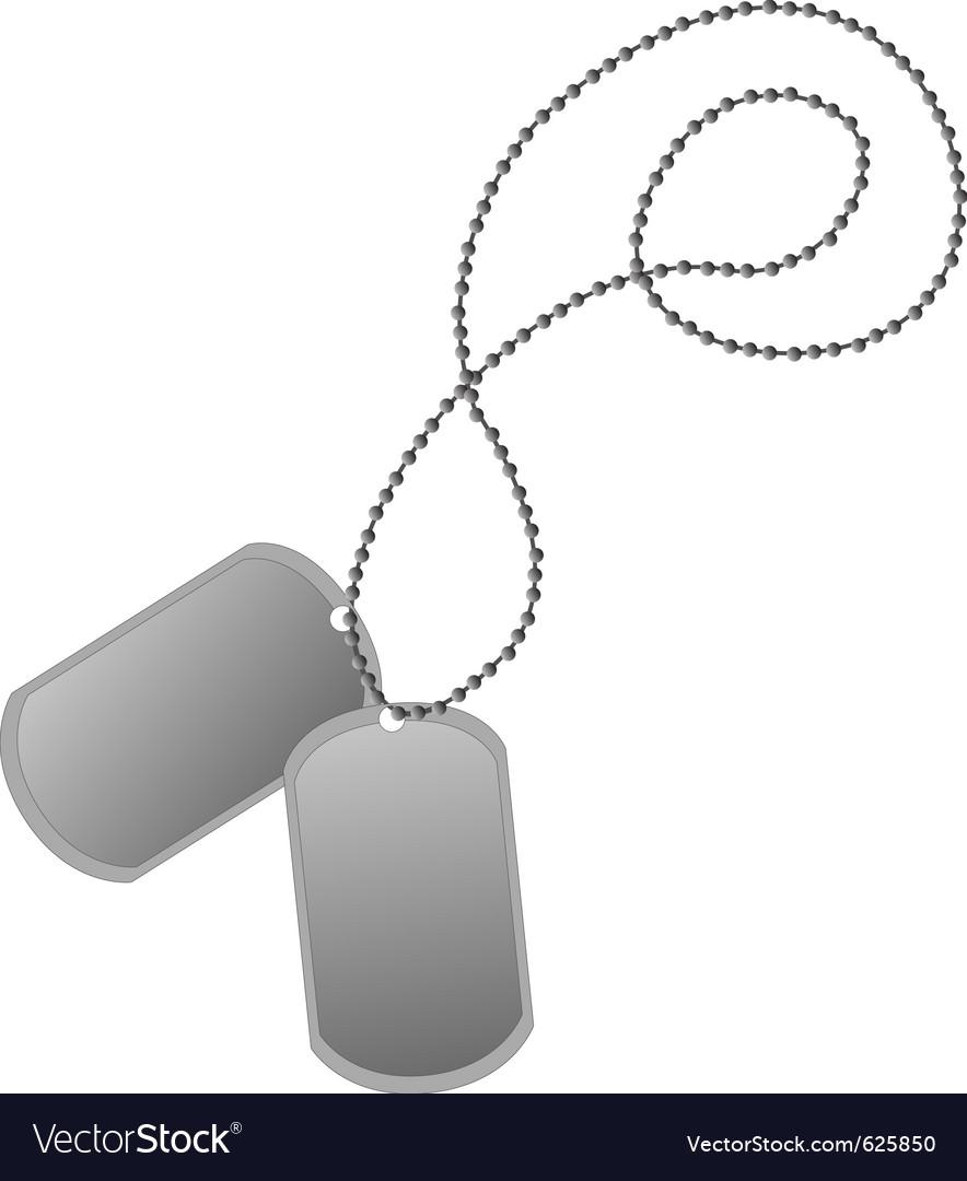 Dog tags vector image