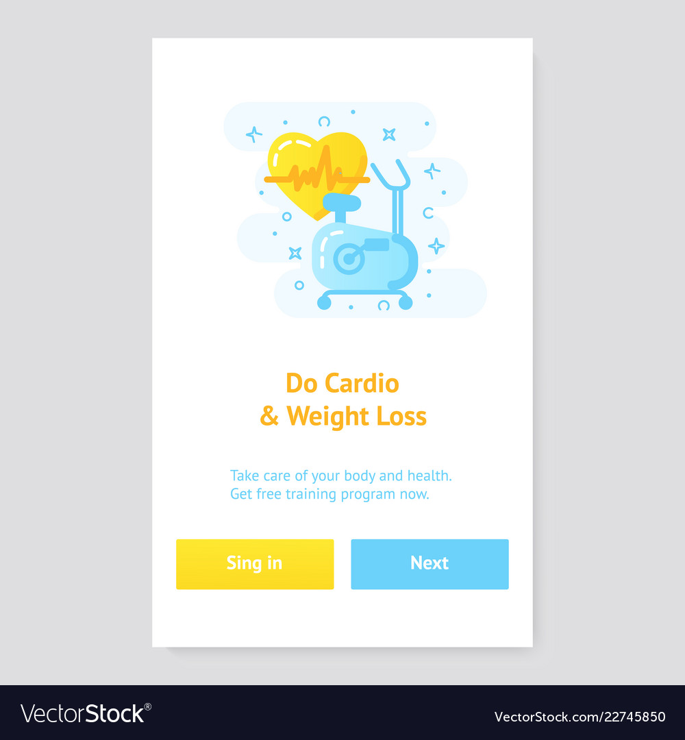 Healthy lifestyle banner concept with exercise