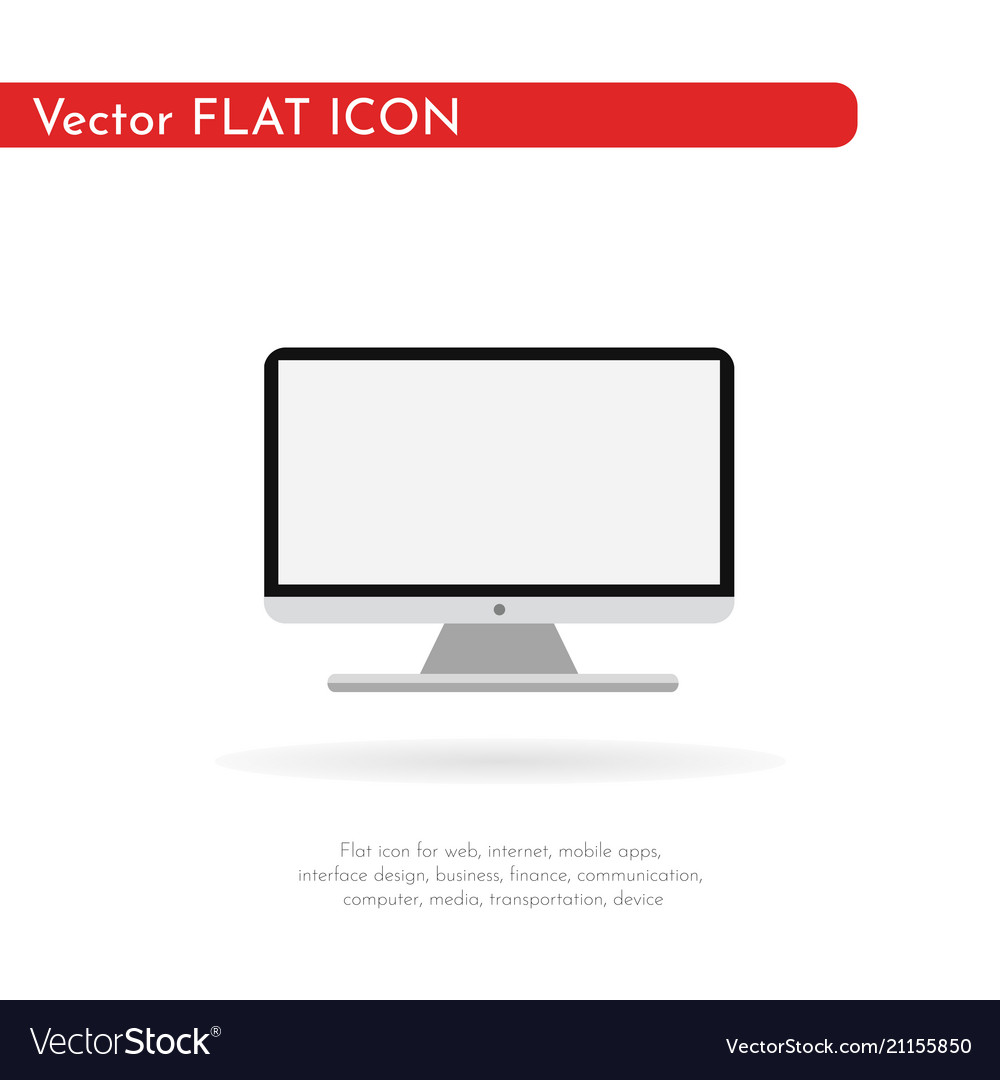 Icon computer monitor flat style