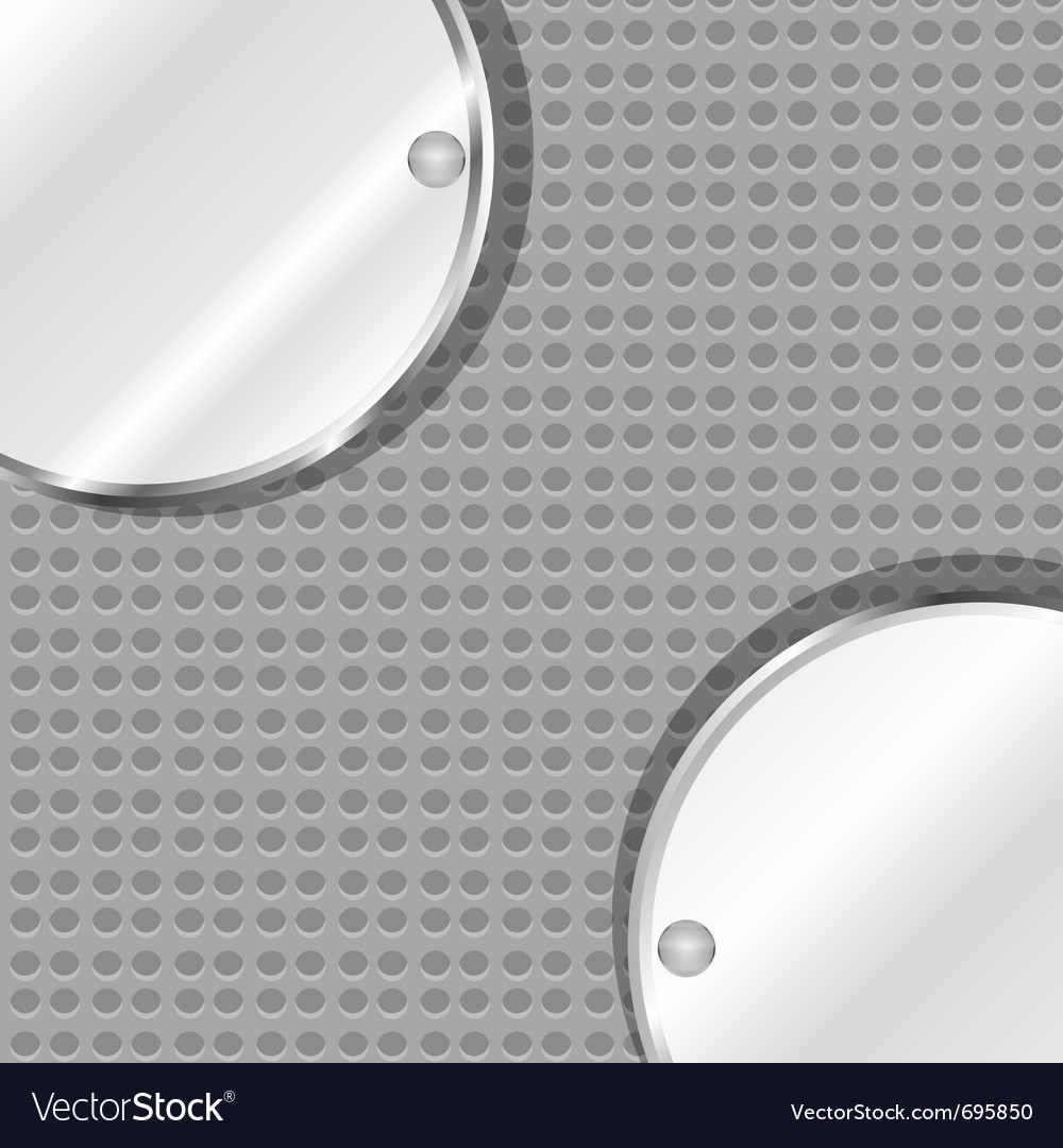 Polished metal steel vector image