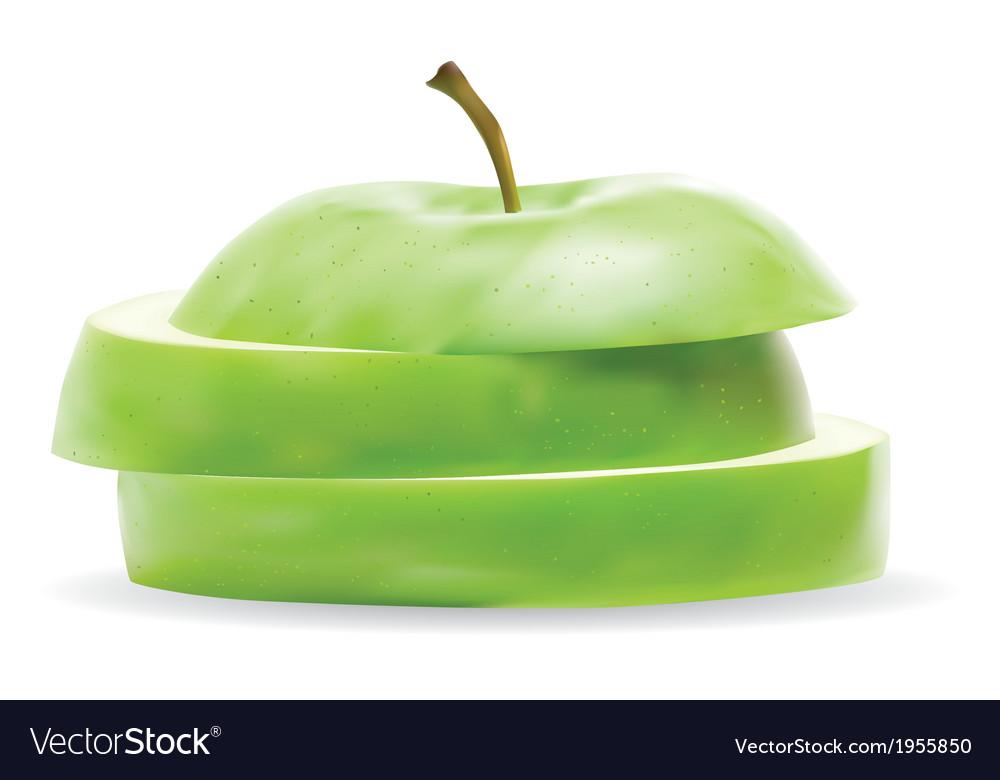 Realistic apple