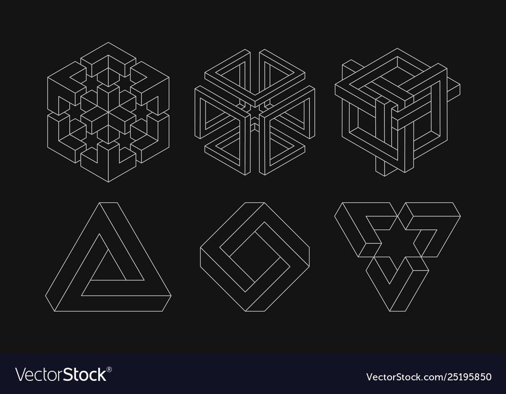 Set impossible shapes optical sacred