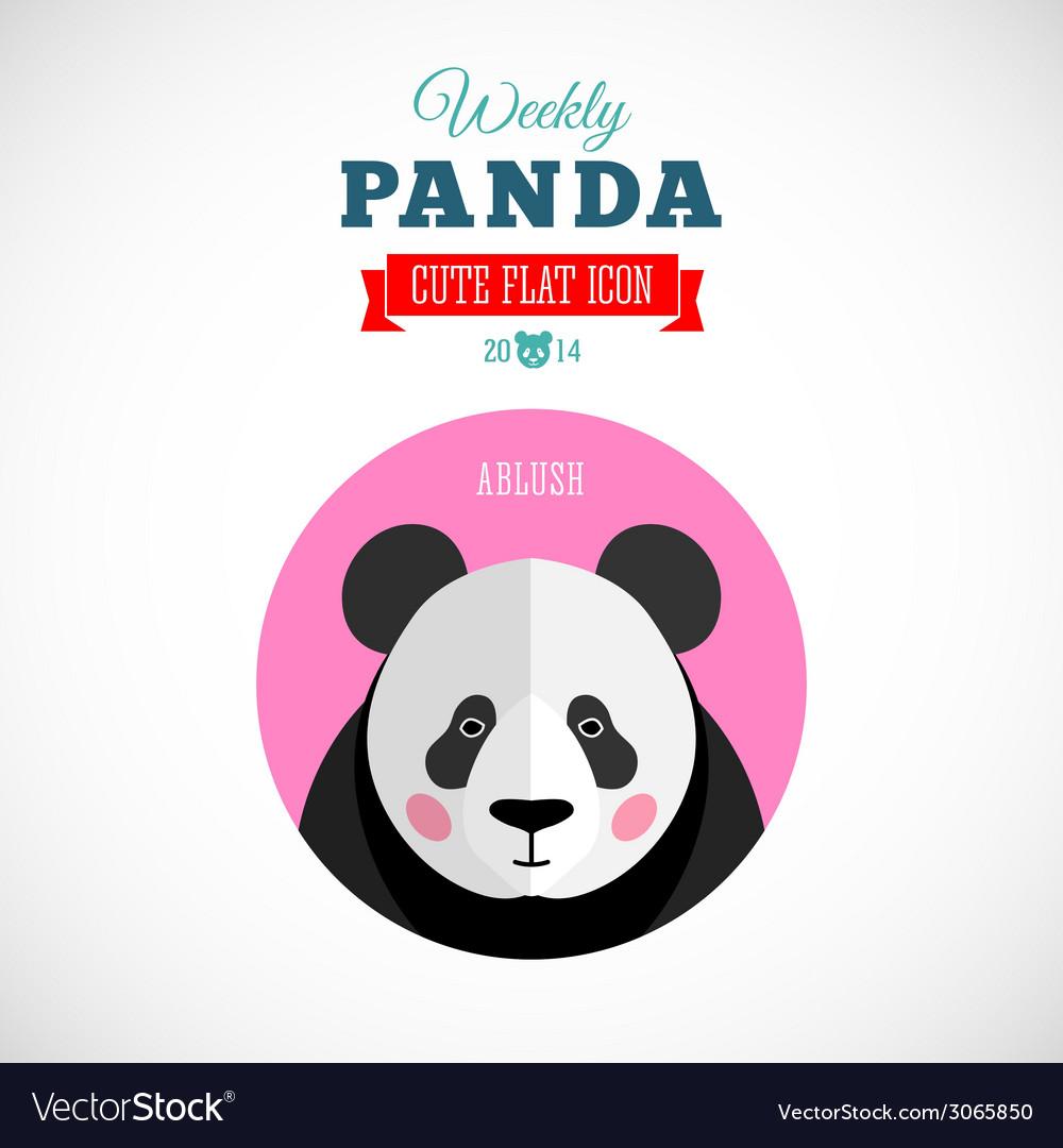 Weekly Panda Cute Flat Animal Icon Ablush