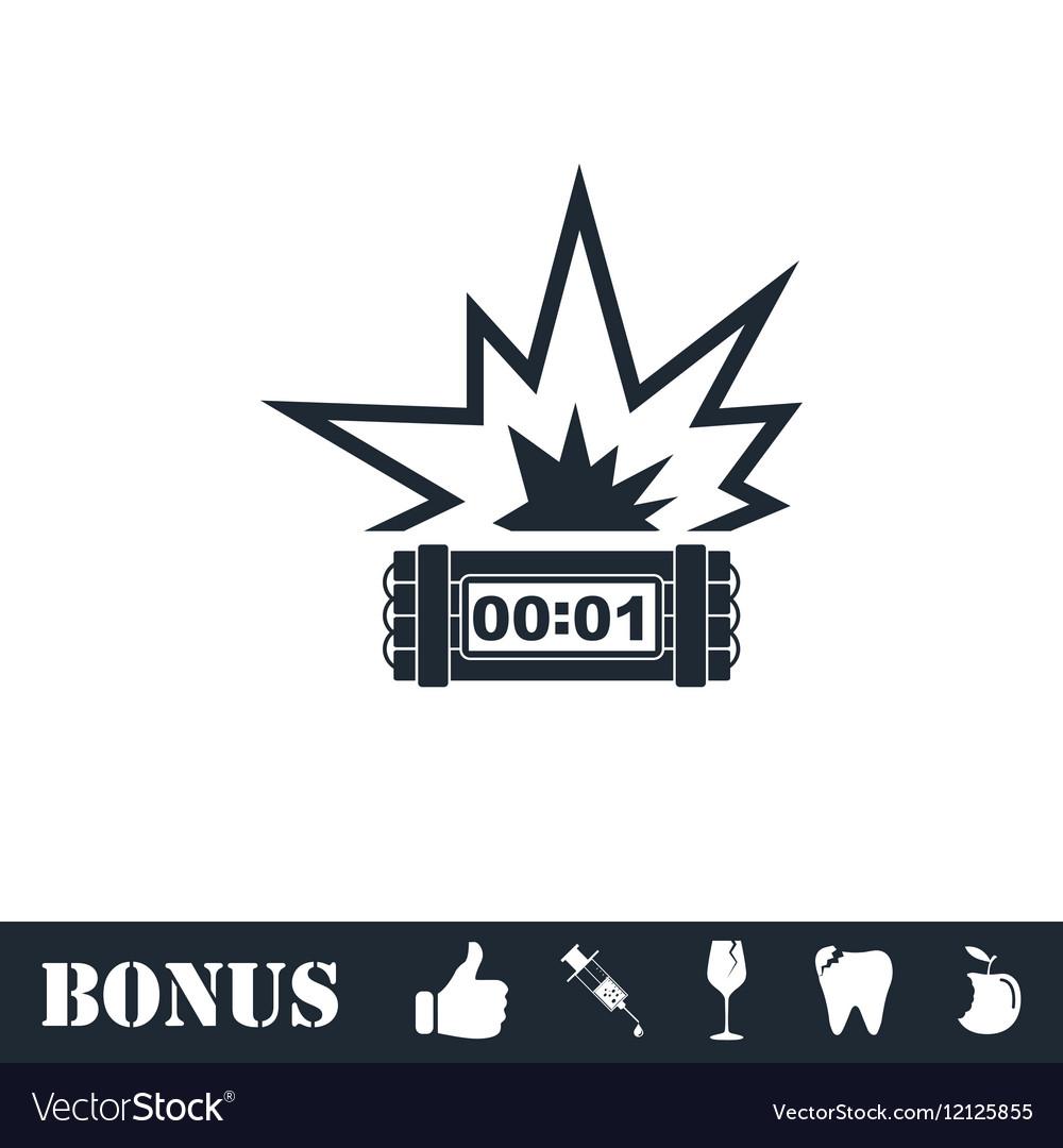 Big Bang Flash Icon Flat Royalty Free Vector Image