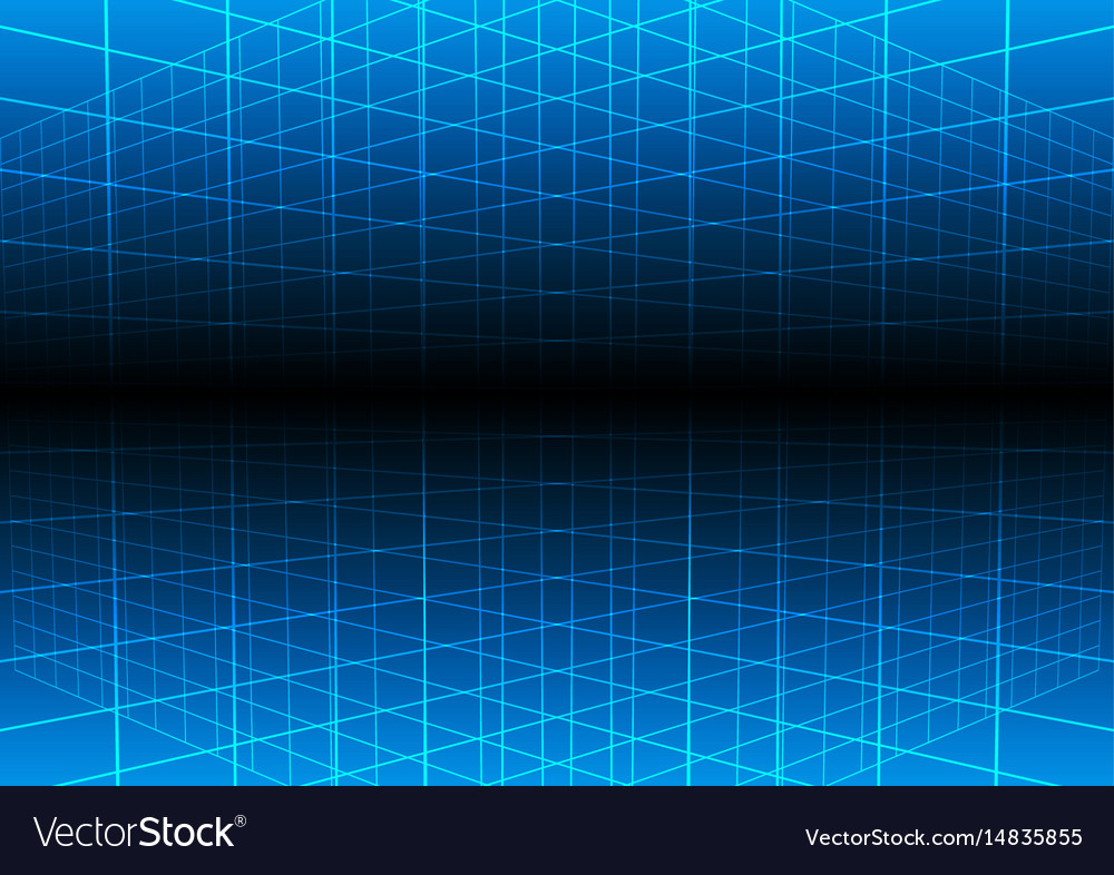 Blue grid light technology background