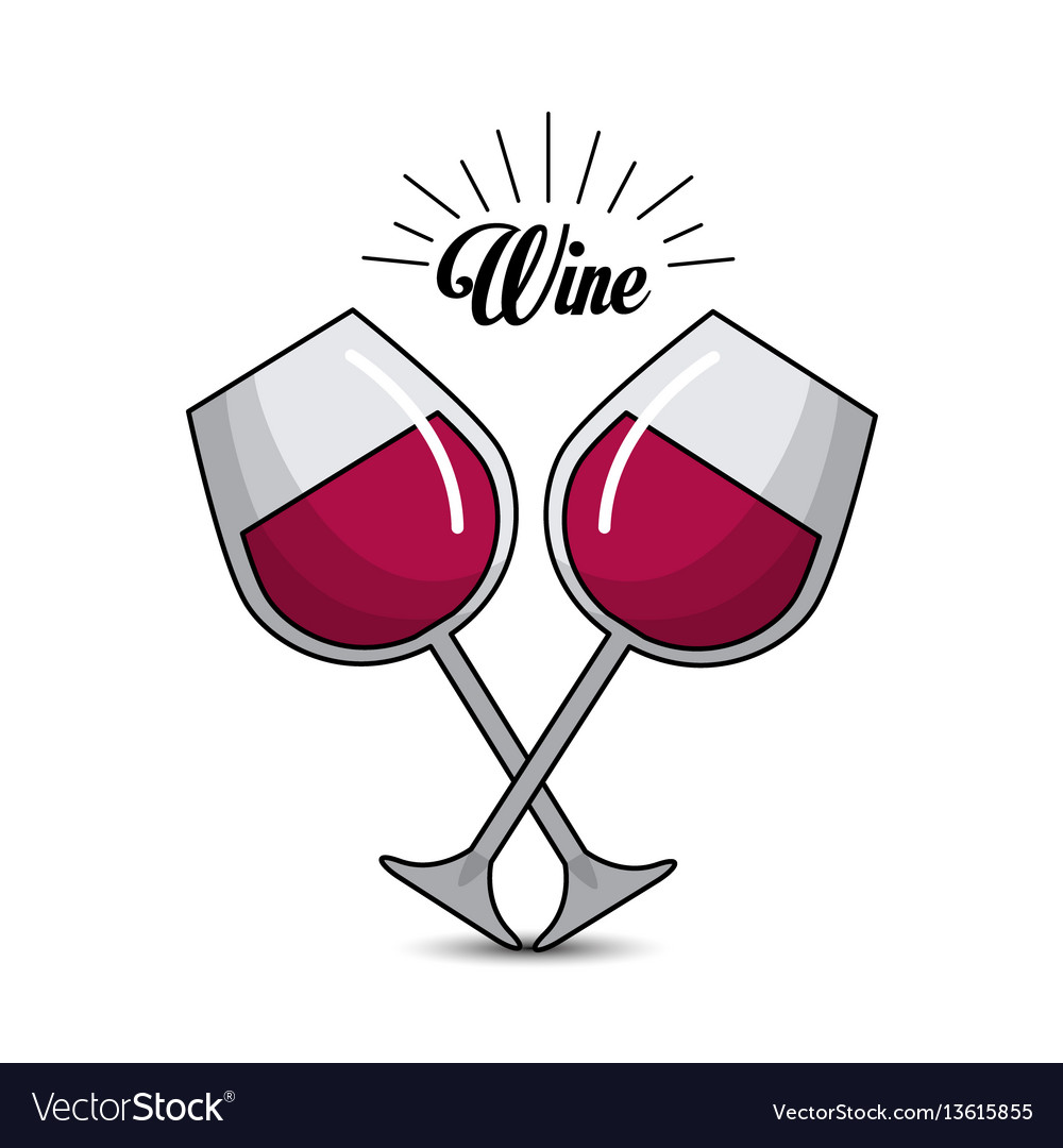 Glasses with wine icon image