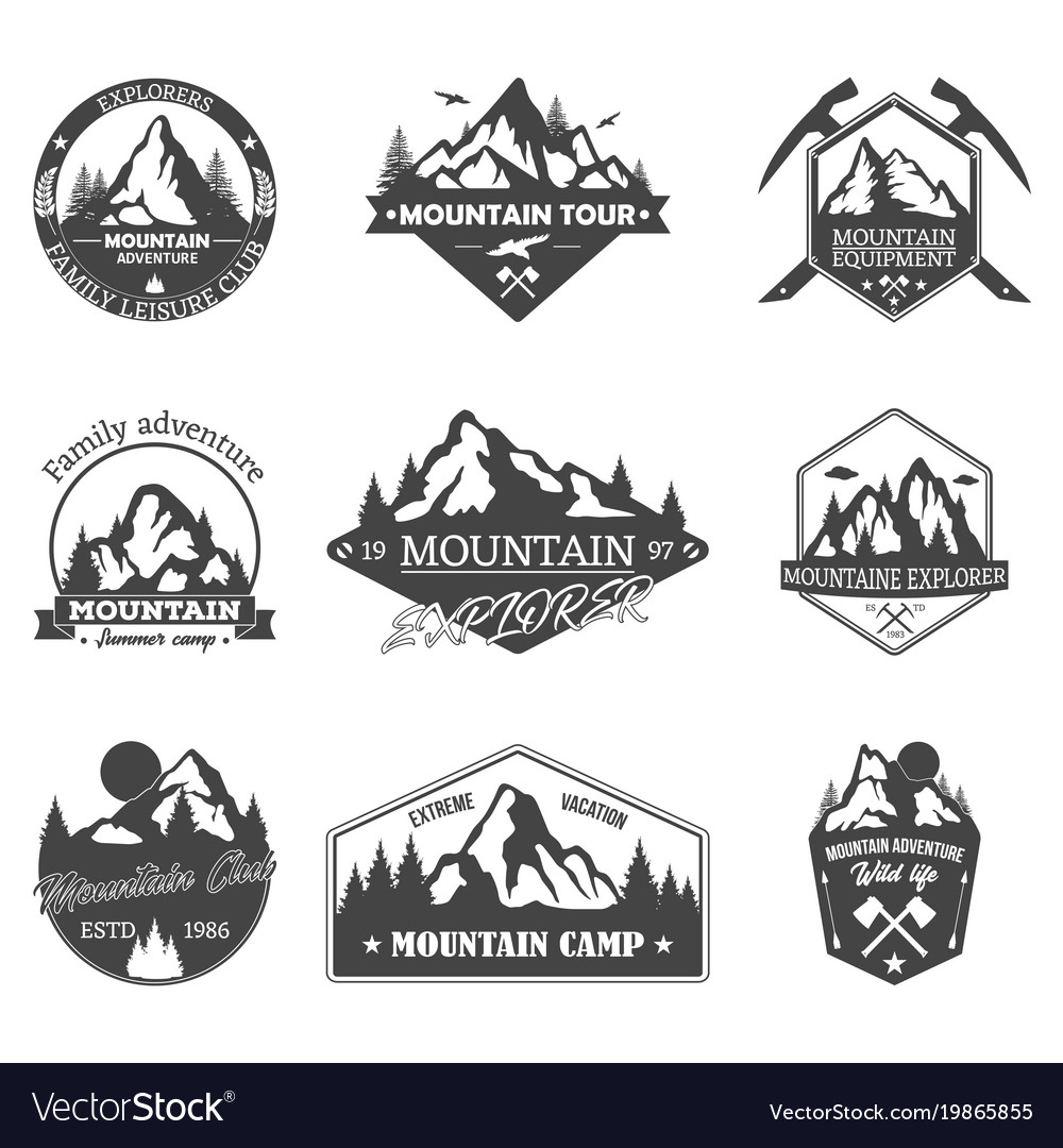 Set of isolated rocky mountain peaks or hills