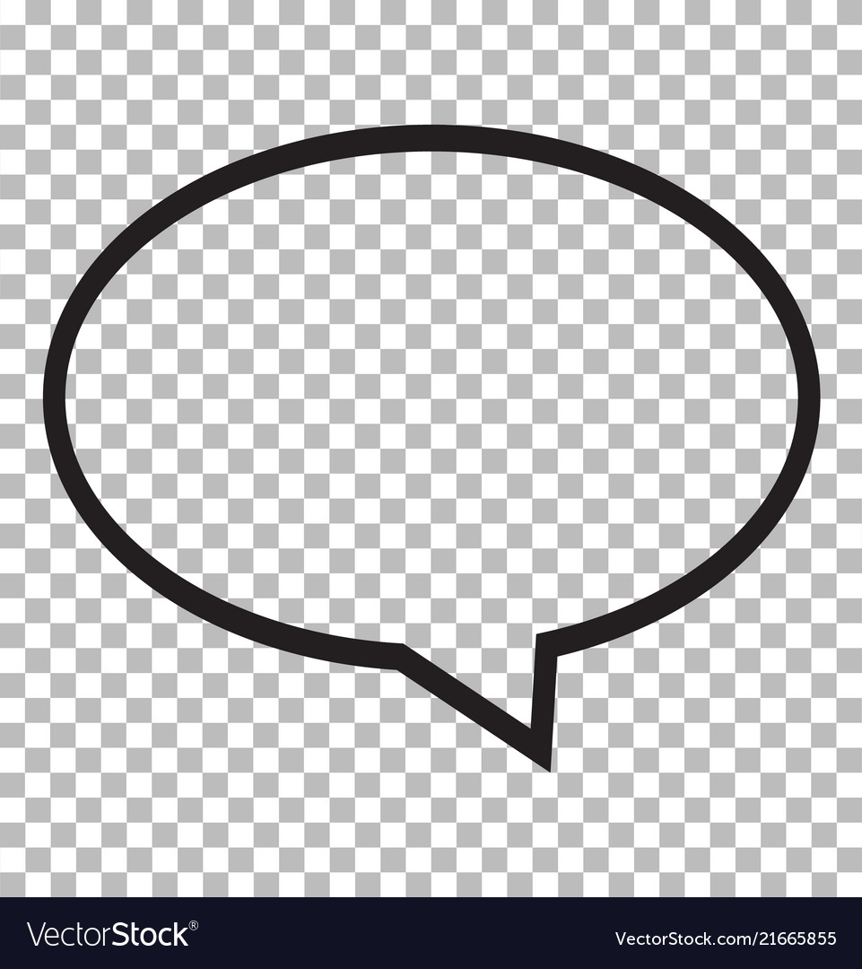 Speech bubble icon isolated on transparent