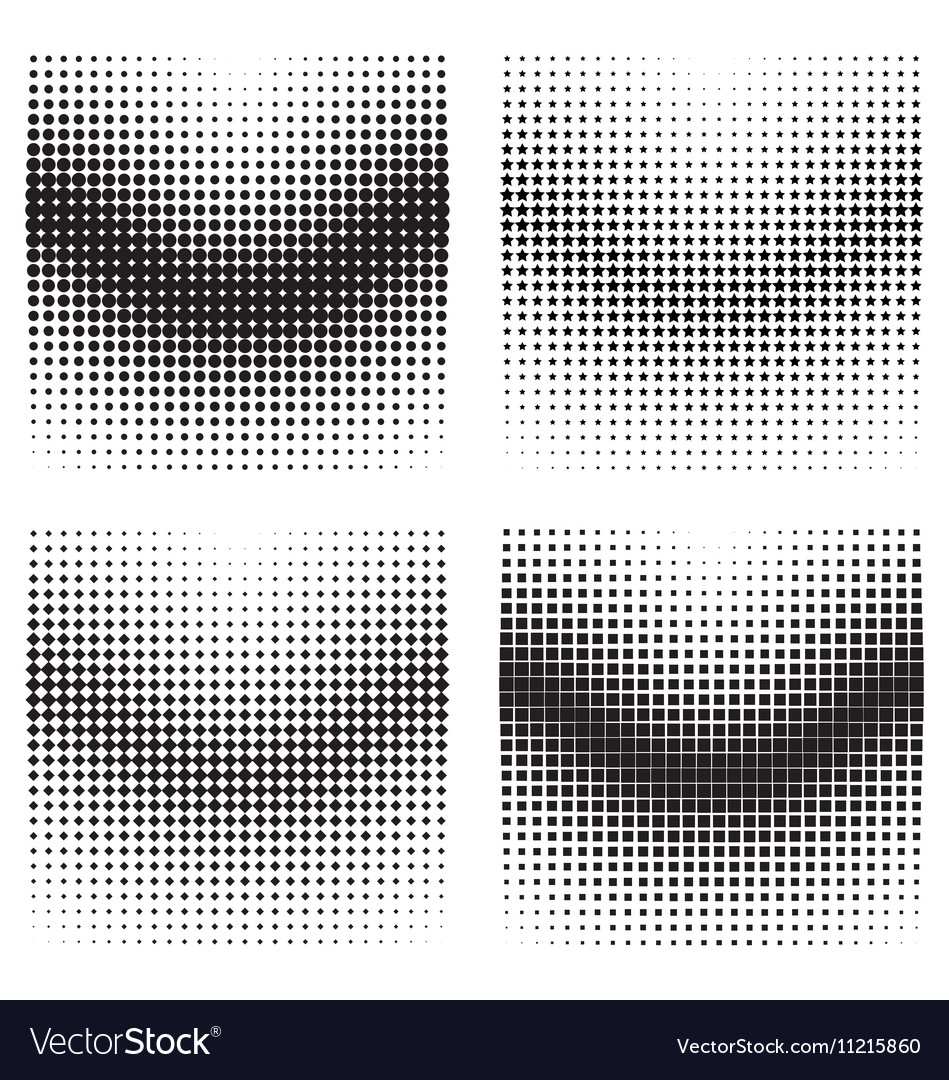 Halftone gradient effects