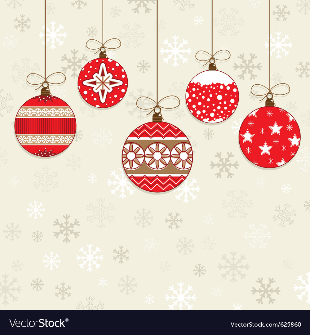 Red decorations vector image