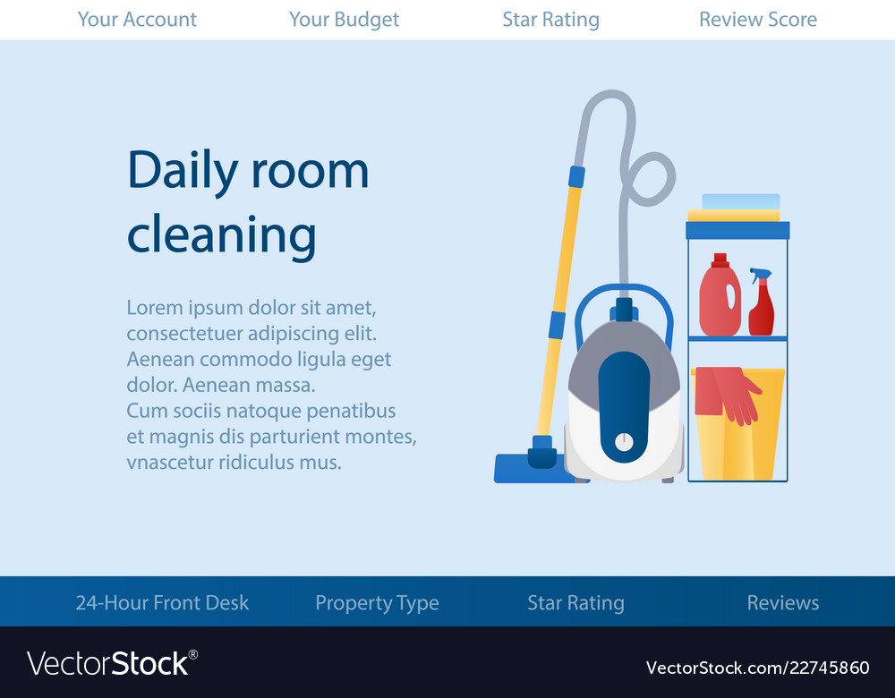 Template with logo for cleaning service of