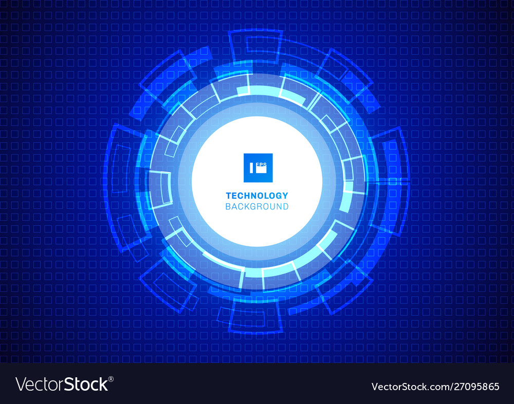 Abstract circle digital business technology blue