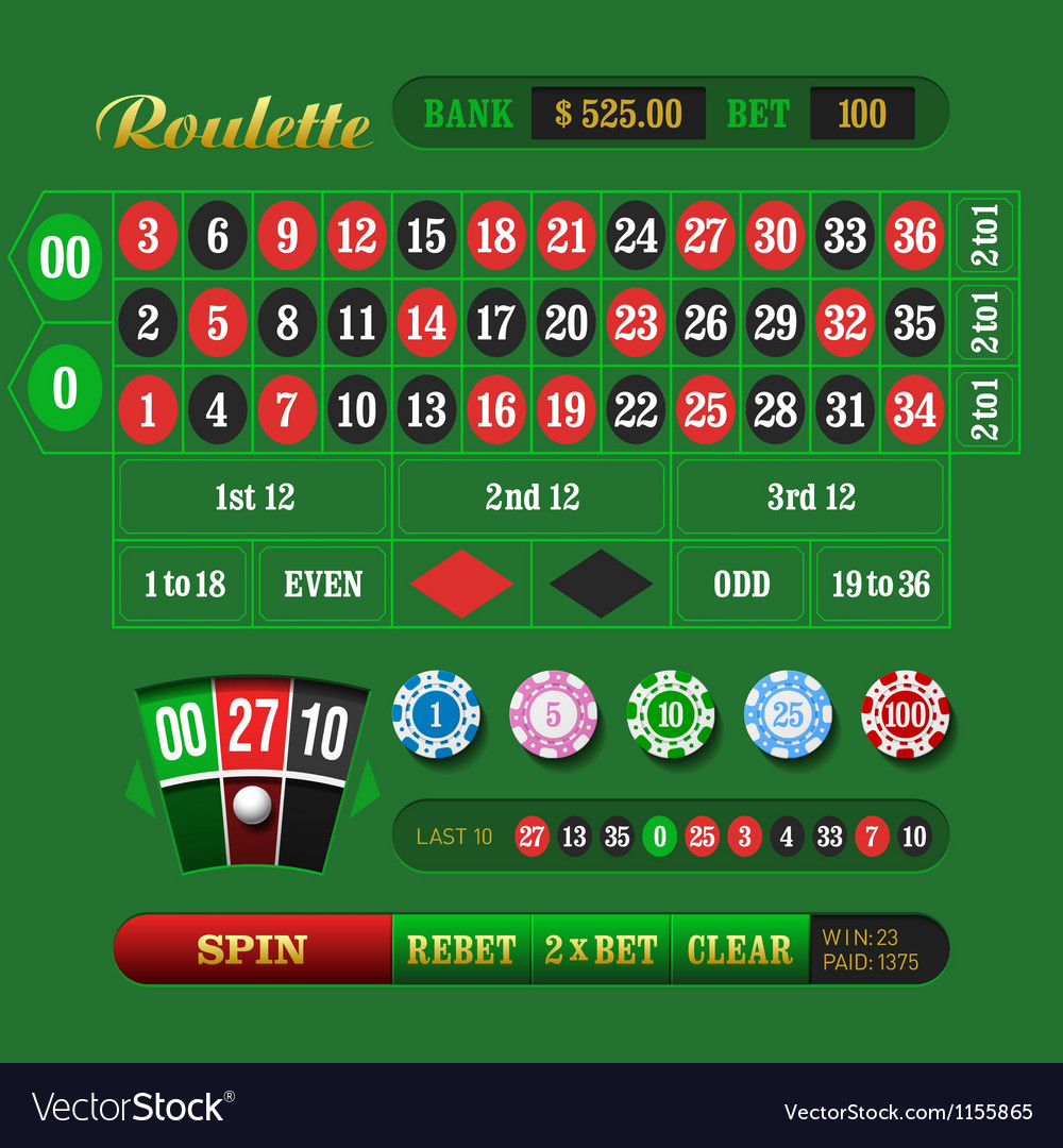 American Roulette vector image